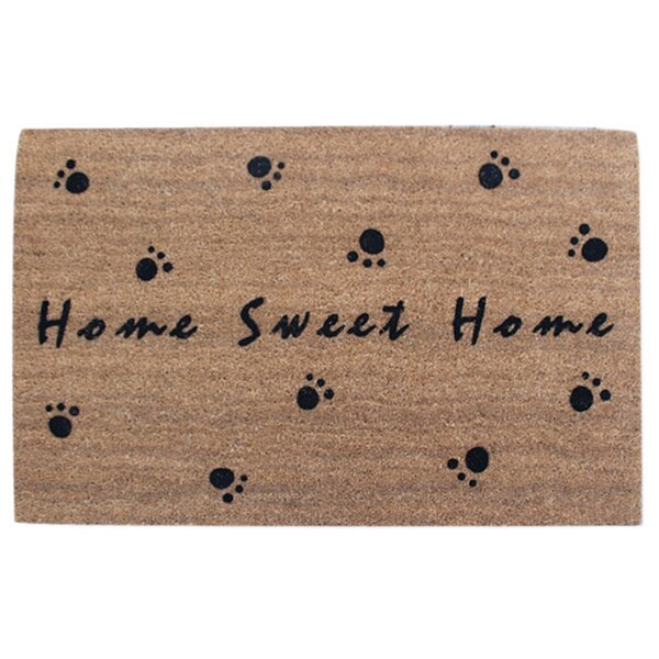 """First Impression Home Sweet Home Flocked Coir Door Mat,Large Size:24""""X36"""""""