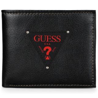 Guess Men's Genuine Leather Double Billfold Wallet