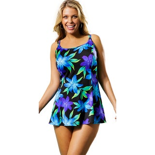 Longitude Women's Flamenco Princess Seam Swimdress