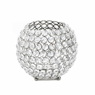 Sparkling Crystal Globe Candle Holder