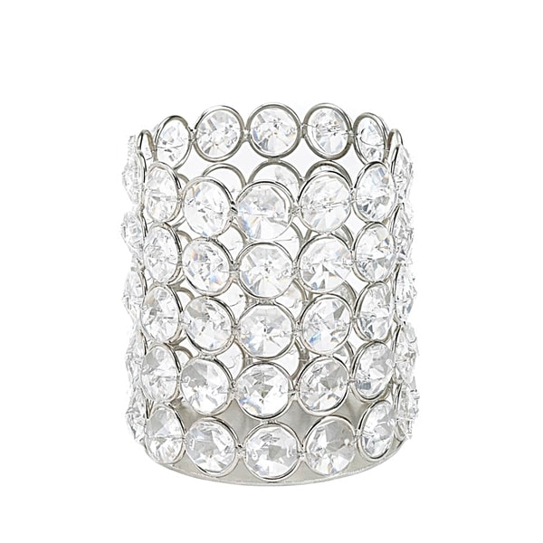 Sparkling Crystal Round Candle Holder 17051485