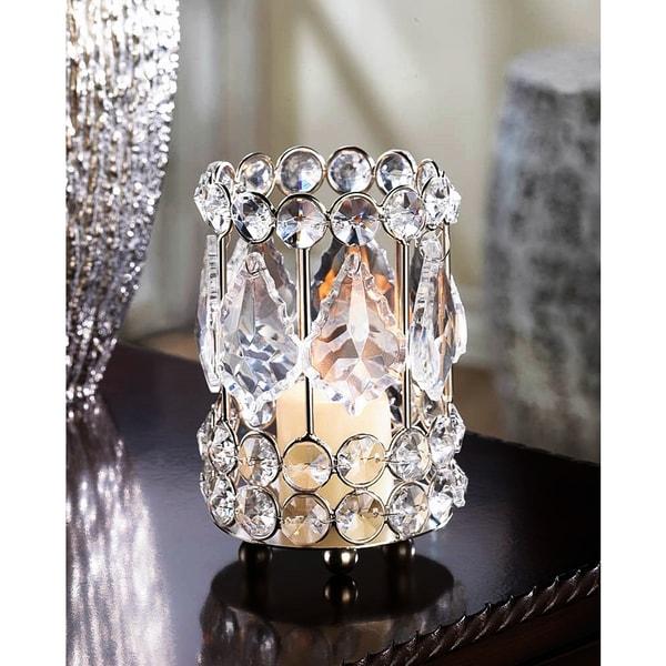 Teardrop Crystal Candle Holder