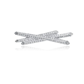Collette Z Sterling Silver Cubic Zirconia Matchstick Pin
