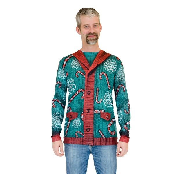 Lick My Candy Cane Ugly Christmas Sweater Long Sleeve Shirt