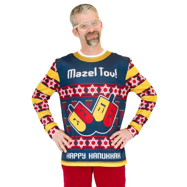 Mazel Tov Ugly Hanukka Sweater Long Sleeve Shirt