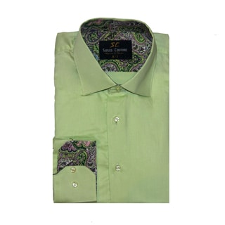 Azaro Uomo Men's Leo Green Button Down