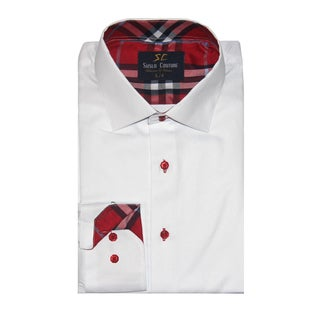 Azaro Uomo Men's Gary White Button Down