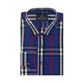 Azaro Uomo Men's Sal Royal Button Down