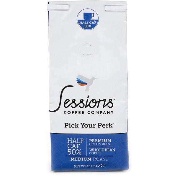Sessions Medium Roast Ground Coffee (12 ounces) Half Caf 50-percent Caffeine