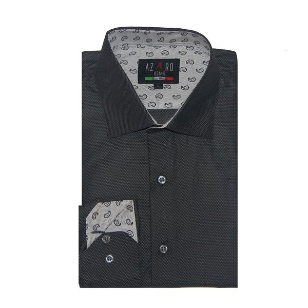 Azaro Uomo Men's Carl Grey Button Down