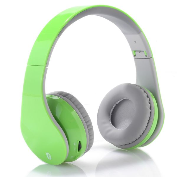 ILIVE IAHB64GN BLUETOOTH HEADPHONES WITH MICROPHONE, GREEN