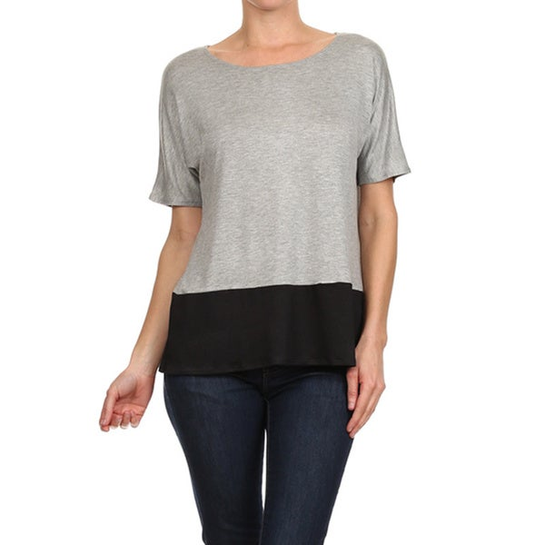 Women's Colorblock Loose Fit T-Shirt