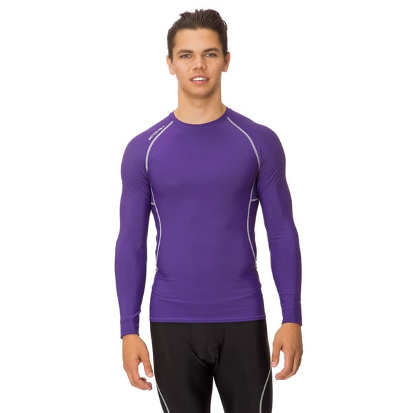 Men's Athletic Compression Long-Sleeve Tech Shirt