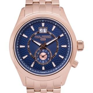 Paul Perret Musset Swiss Quartz Men's Watch Multi-Textured Dial Stainless Steel Bracelet