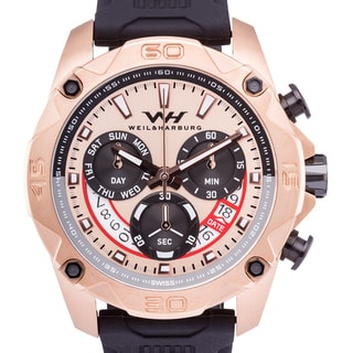 Weil & Harburg Drayton Swiss Chronograph Men's Watch Quartz Large 49mm Stainless Steel Case