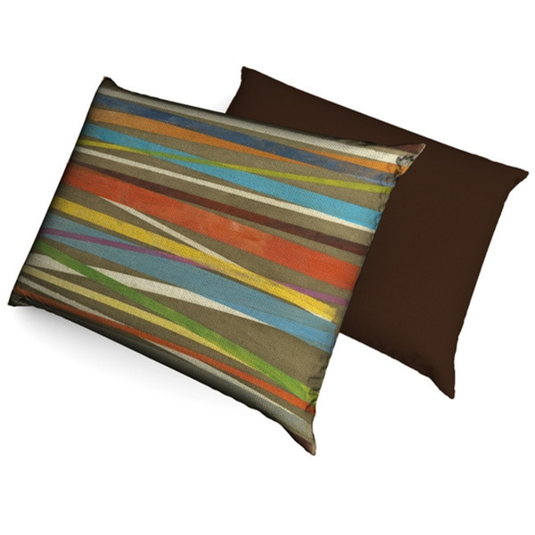 Modern Striped Fleece Dog Bed