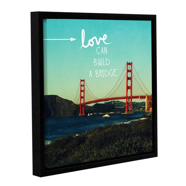 ArtWall Linda Woods's Love Can Build, Gallery Wrapped Floater-framed Canvas