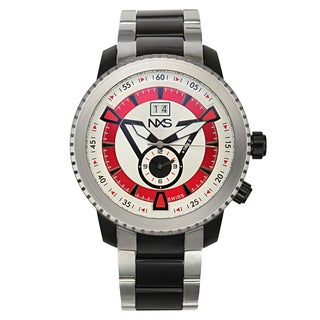 NXS Colby Swiss Quartz Men's Watch 2 Time Zone 23 mm Stainless Steel Bracelet