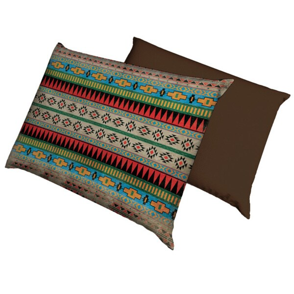 Aztec Pattern Fleece Dog Bed
