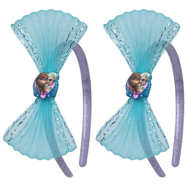 Disney Frozen 2-Piece Oversized Textured Glitter Bow Headband