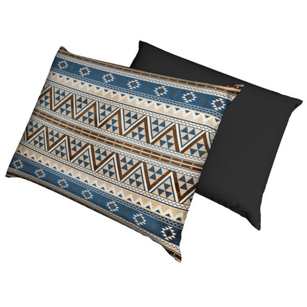 Blue and Brown Aztec Waterproof Dog Bed
