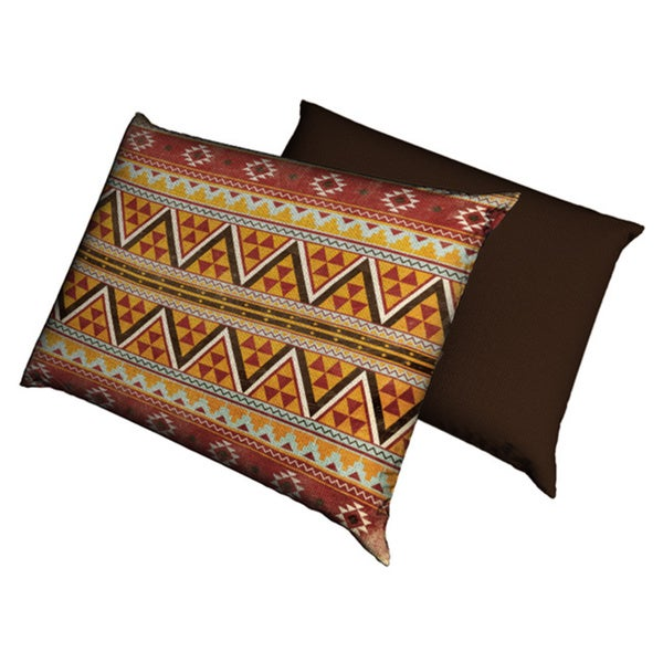 Red Southwest Aztec Fleece Dog Bed