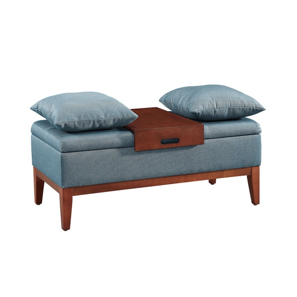 Oh! Home Lila Luxury Bench - Brown/Blue