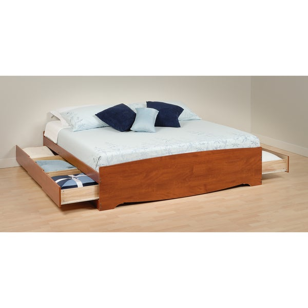Chelsea Cherry King Mate's Platform Storage Bed with 6 Drawers