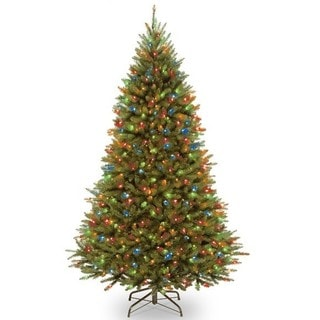 National Tree Company PowerConnect Kingswood 7.5-Foot Fir Tree with Dual Color LED Lights