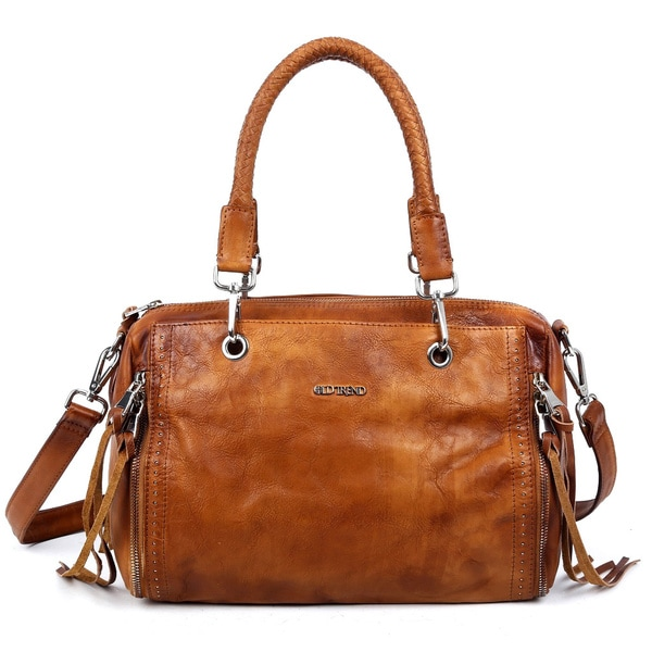 Old Trend 12060 Walnut Tan Satchel