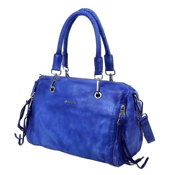 Old Trend 12060 Walnut Blue Satchel