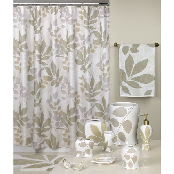 Shadow Leaves Shower Curtain (As Is Item)
