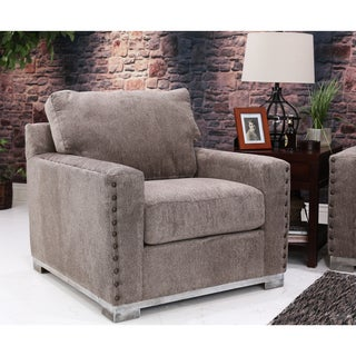 Bombay Watertown Pewter Oversized Chair