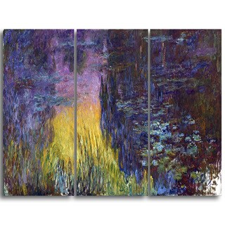 Design Art 'Claude Monet - The Water Lilies Setting Sun' Landscape Canvas Arwork