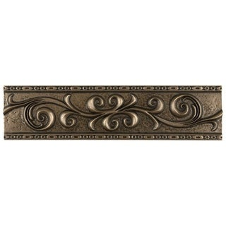 SomerTile 3x12-inch Courant Scroll Bronze Resin Liner Trim Wall Tile (Pack of 5)