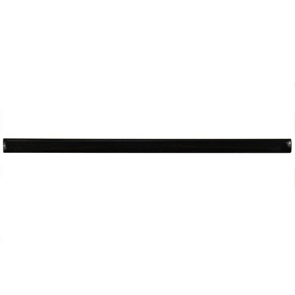 SomerTile .5x8-inch Pincello Nero Ceramic Pencil Trim Wall Tile (Pack of 12)
