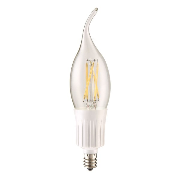 Elegant Lighting Elitco C35T 4-Watt E12 2700K Clear Candle LED Bulb