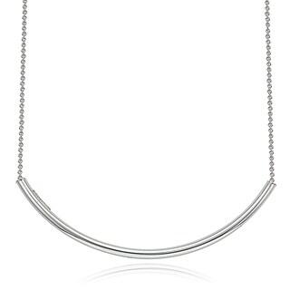Mondevio Silver Arch Bar Necklace