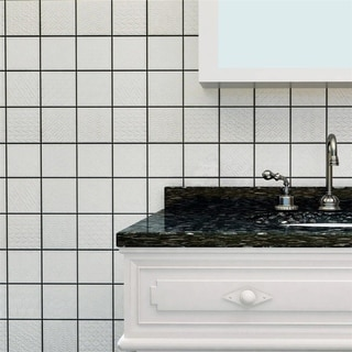 SomerTile 11.625x11.625-inch Vitality White Porcelain Mosaic Floor and Wall Tile (Case of 5)