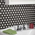 SomerTile 11.5x13.25-inch Victorian Mini Hex Matte Black with White Dot Porcelain Floor and Wall Tile (Case of 10)