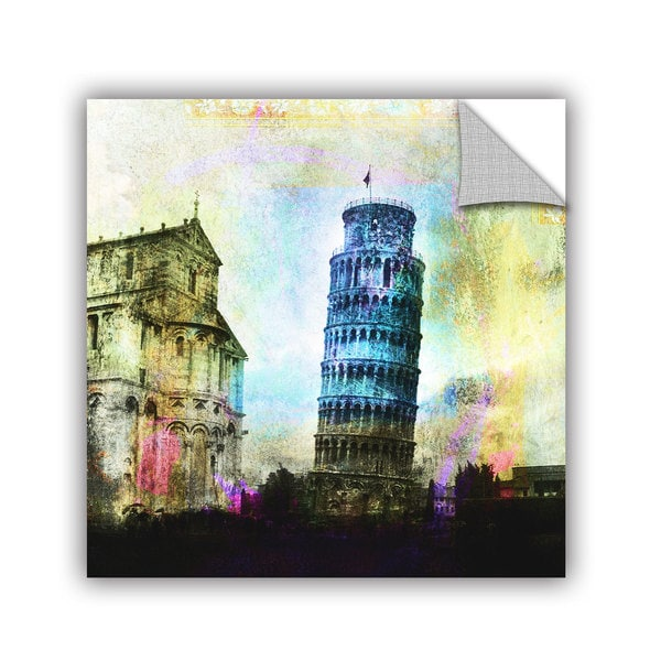 ArtAppealz Elena Ray 'Leaning Tower Of Pisa' Removable Wall Art