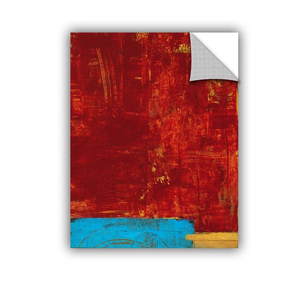 ArtAppealz Elena Ray 'Red Abstract' Removable Wall Art 17056494