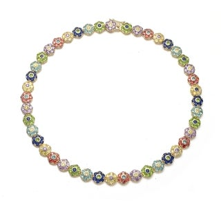 Collette Z Sterling Silver Neutral Cubic Zirconia Necklace