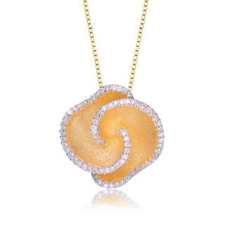 Collette Z Sterling Silver Cubic Zirconia Shell Pendant