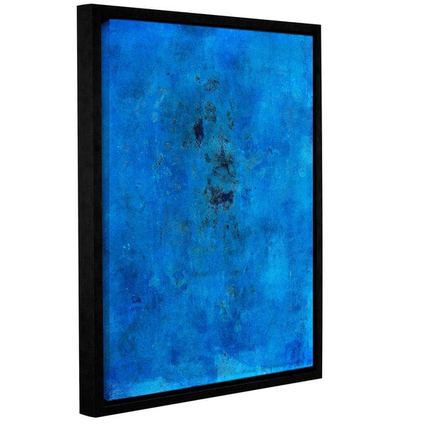 ArtWall Elena Ray 'Blue Grunge' Gallery-wrapped Floater-framed Canvas 17056939