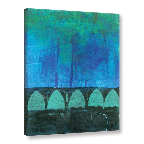 ArtWall Elena Ray 'Blue-Green Abstract' Gallery-wrapped Canvas 17056943