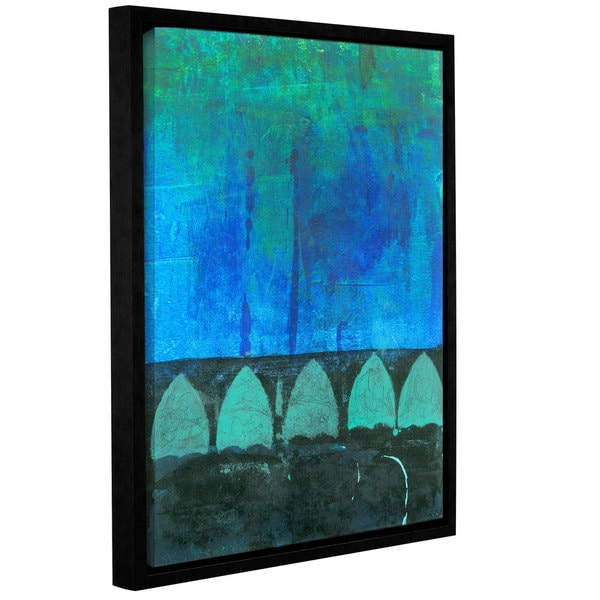 ArtWall Elena Ray 'Blue-Green Abstract' Gallery-wrapped Floater-framed Canvas 17056949
