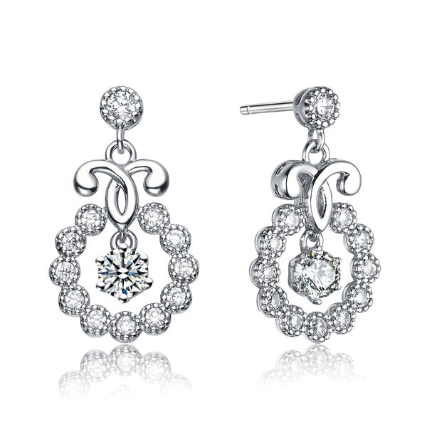 Collette Z Sterling Silver Cubic Zirconia Essence Earrings