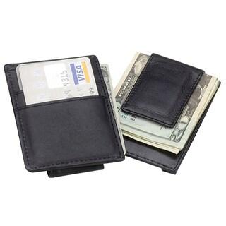 Goodhope Men's Elegant Leather Credit Cards Money Clip