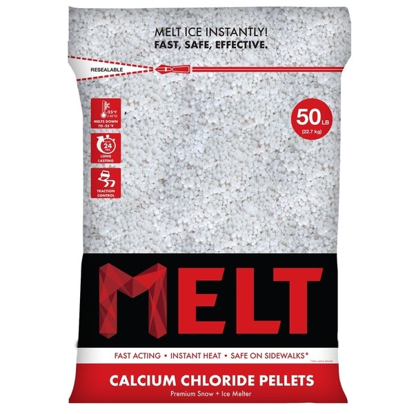 50-LB Calcium Chloride Pellets Ice Melter - Resealable Bag - MELT50CCP